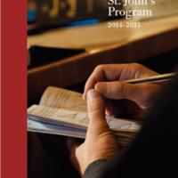 Statement of the St. John's Program 2014-2015