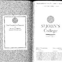 Statement of the St. John's Program 2000-2001