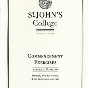 Commencement Program,  2010