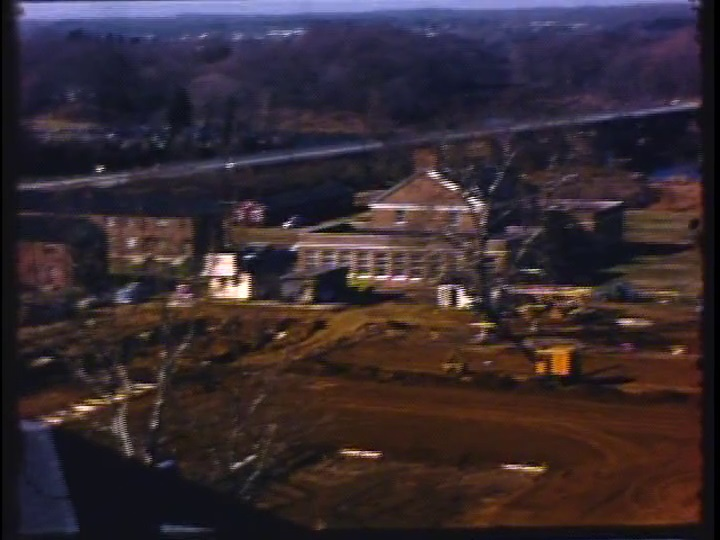 Construction of Mellon Hall