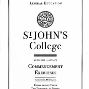 Graduate Institute Commencement Program,  2012