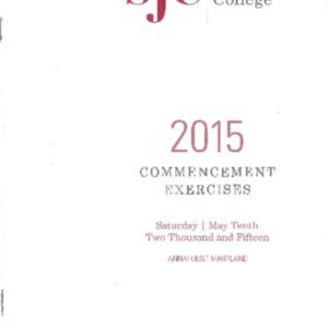Commencement Program, 2015