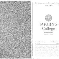 Statement of the St. John's Program 2008-2009
