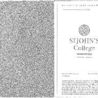 Statement of the St. John's Program 2004-2005
