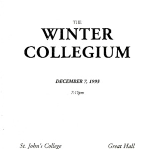 Winter Collegium