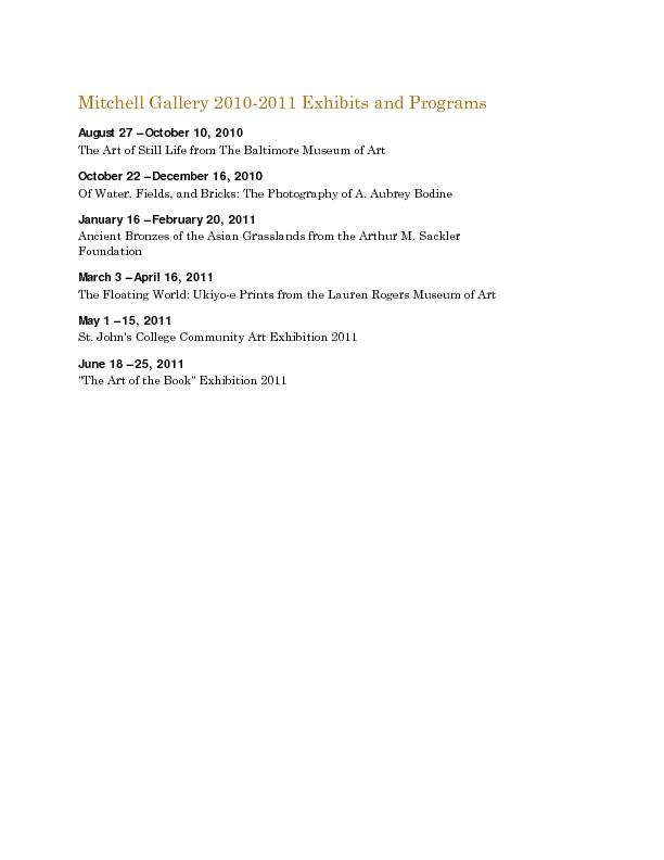Mitchell Gallery Exhibition Schedule 2010-2011.pdf