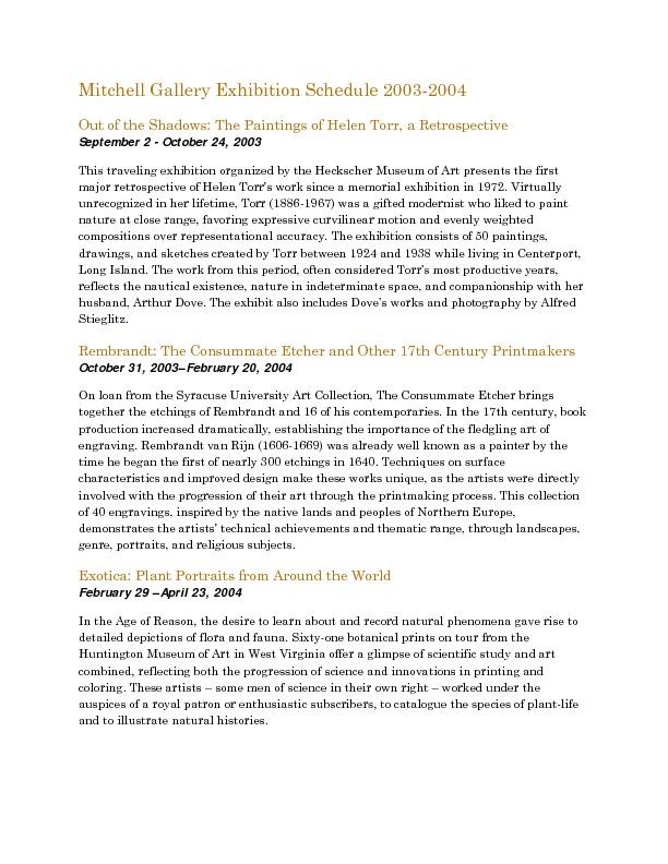 Mitchell Gallery Exhibition Schedule 2003-2004.pdf