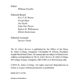 The St. John's Review 58.1 (Fall 2016) Revised on 2-21-17.pdf