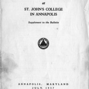 New Program Supplement to Bulletin 1937-1938.pdf