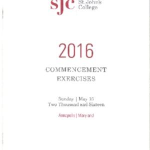 Commencement Program, 2016