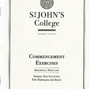 Commencement Program,  2008