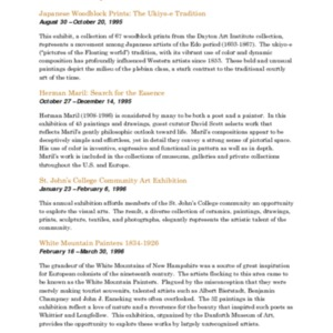 Mitchell Gallery Exhibition Schedule 1995-1996.pdf
