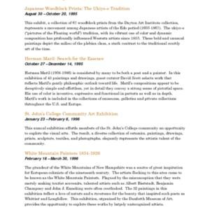Mitchell Gallery Exhibition Schedule 1995-1996.pdf