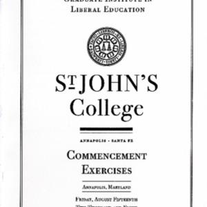 Graduate Institute Commencement Program,  2008