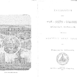 Catalogue of St. John's College, Annapolis, Maryland, for the Academic Year, 1893--1894, and Prospectus 1894--1895.