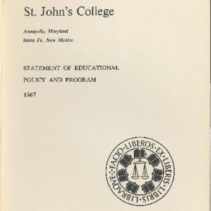 Vol. XX, #2, Educational Policy and Program Statement 1967.pdf