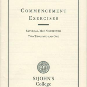 Santa Fe Commencement Program, Spring 2001