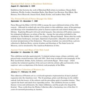 Mitchell Gallery Exhibition Schedule 1999-2000.pdf