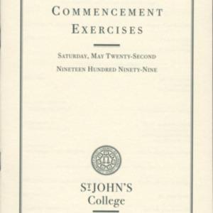 Santa Fe Commencement Program, Spring 1999
