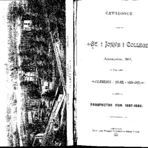 Catalogue of St. John's College Annapolis, Md. for the Academic Year 1886-1887.  And Prospectus for 1887-1888.