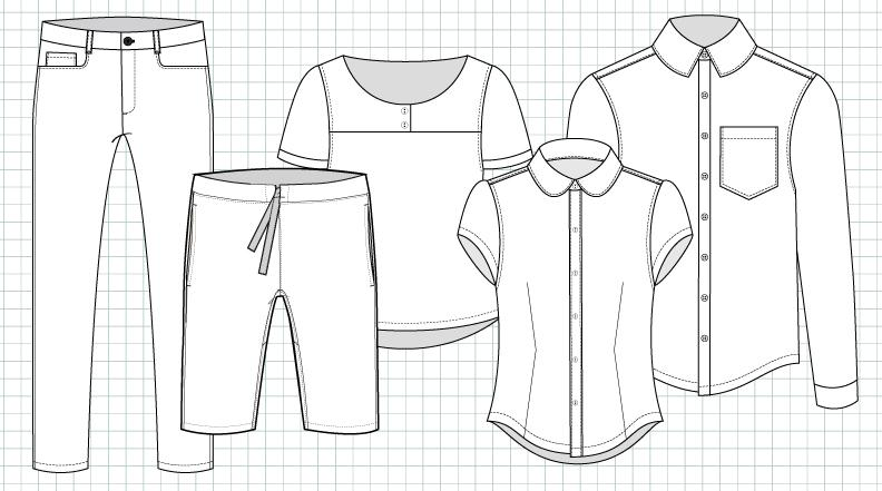 Flats Design adobe illustrator for fashion (cad i): introduction to garment
