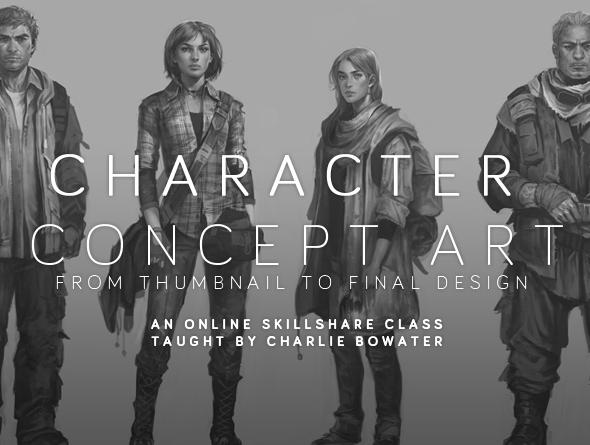 Character Conceptual Design : Character concept art from initial sketch to final design