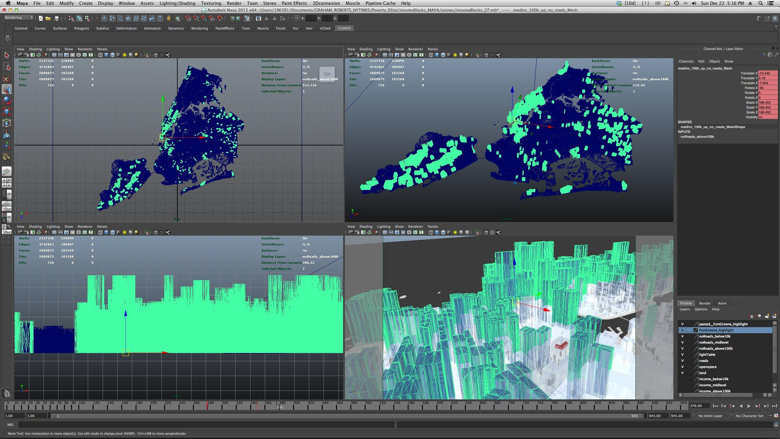 Animated Information Graphics An Introduction To Maya 3d
