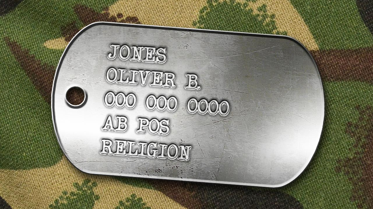 Photoshop: Create a Classic, Military Dog Tag with Stamped, Metal ...