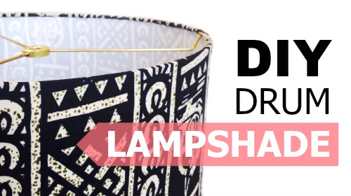 Diy lampshades create a modern drum lampshade kiri masters about this class b4ce8d97 learn how to make a custom drum lampshade aloadofball Choice Image