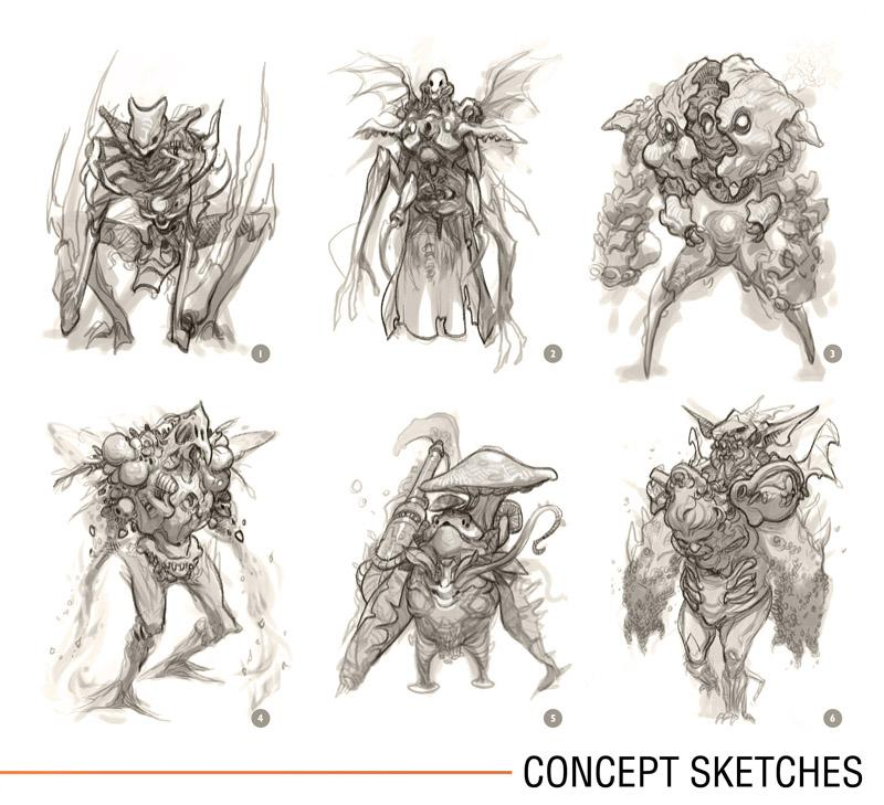 Character Design Workflow : Concept art creature design workflow andrew hou