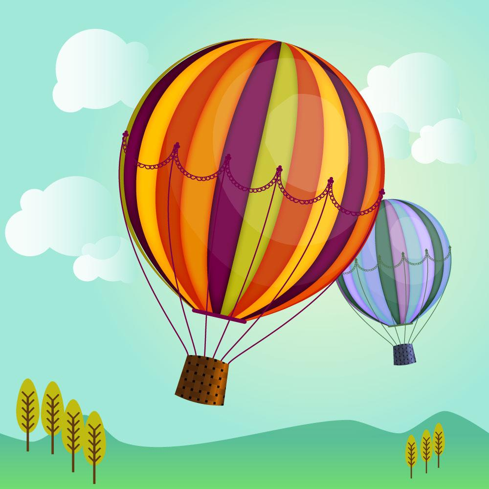 draw a hot air balloon in illustrator fun with 3d
