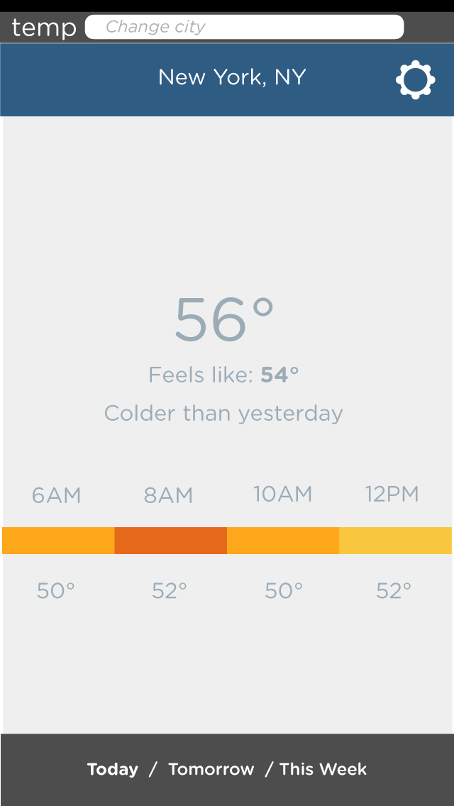 Color Bar Weather App - image 6 - student project