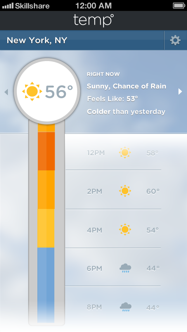 Color Bar Weather App - image 10 - student project
