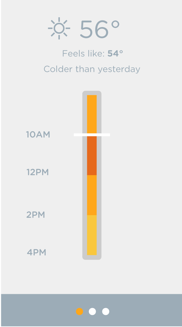 Color Bar Weather App - image 7 - student project