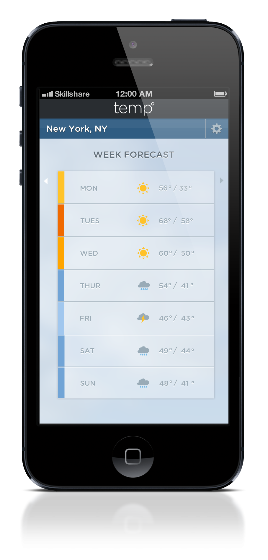 Color Bar Weather App - image 11 - student project