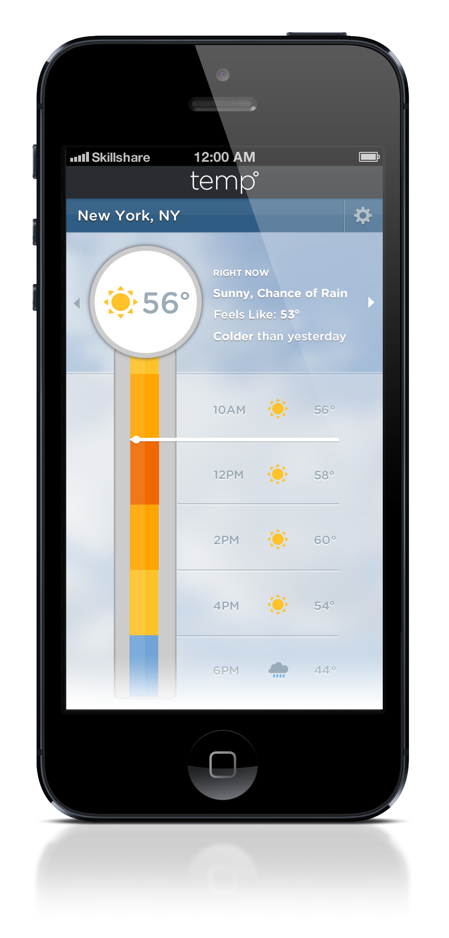 Color Bar Weather App - image 9 - student project