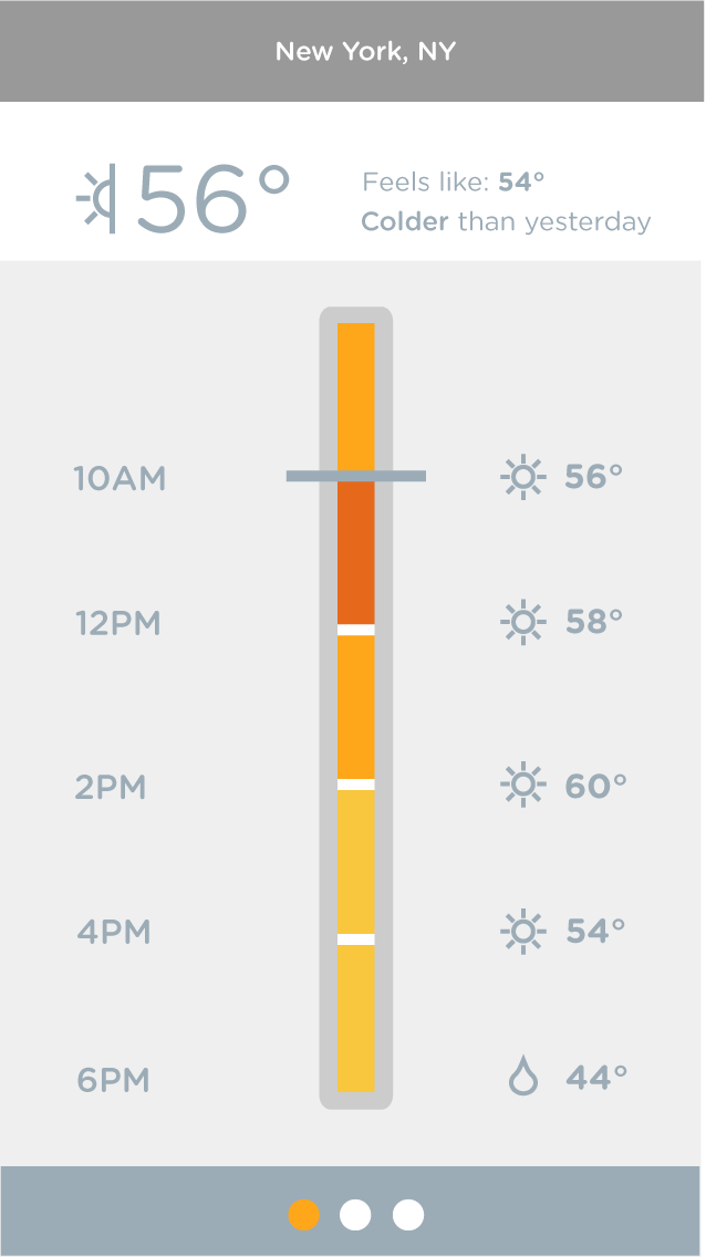 Color Bar Weather App - image 8 - student project