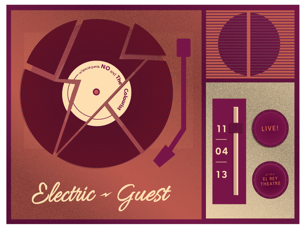 Electric Guest Gig Poster - image 4 - student project