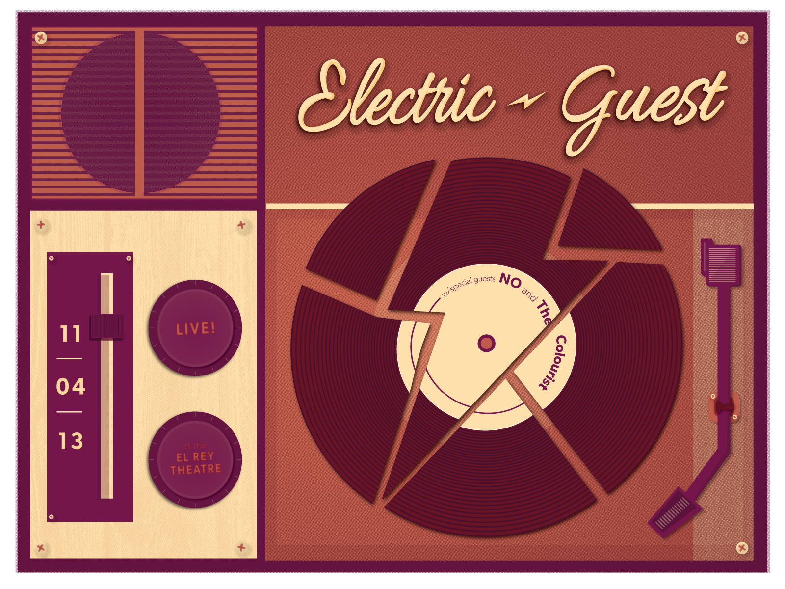 Electric Guest Gig Poster - image 1 - student project