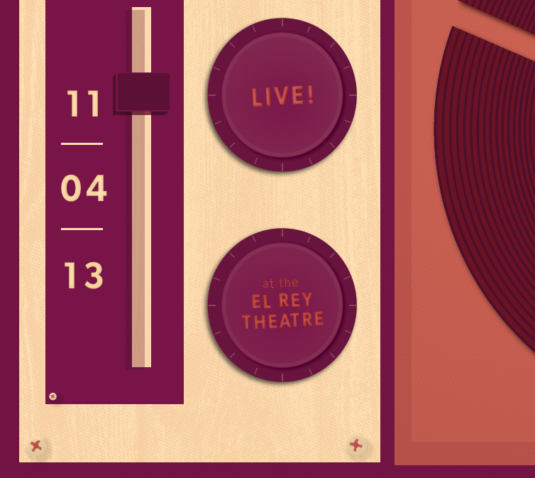 Electric Guest Gig Poster - image 2 - student project