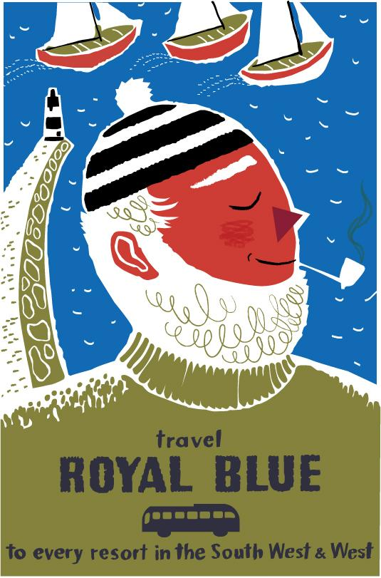 Travel Royal blue fisherman poster - image 2 - student project