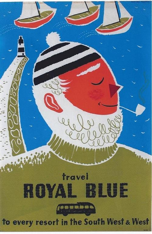 Travel Royal blue fisherman poster - image 4 - student project