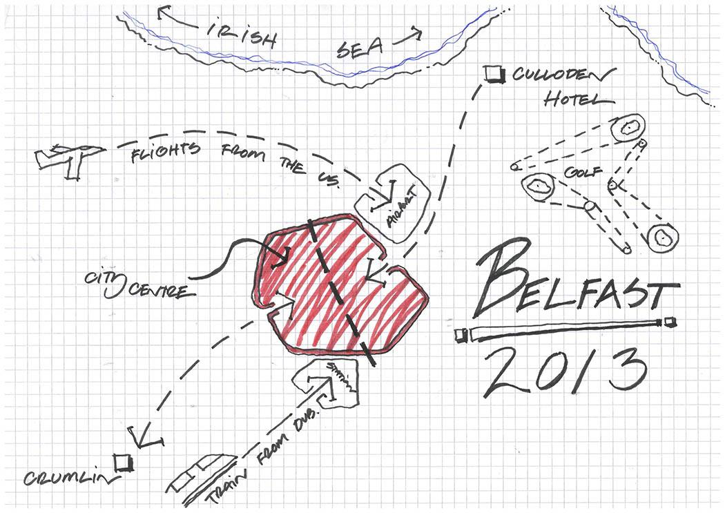 My Wedding Map of Belfast - image 1 - student project