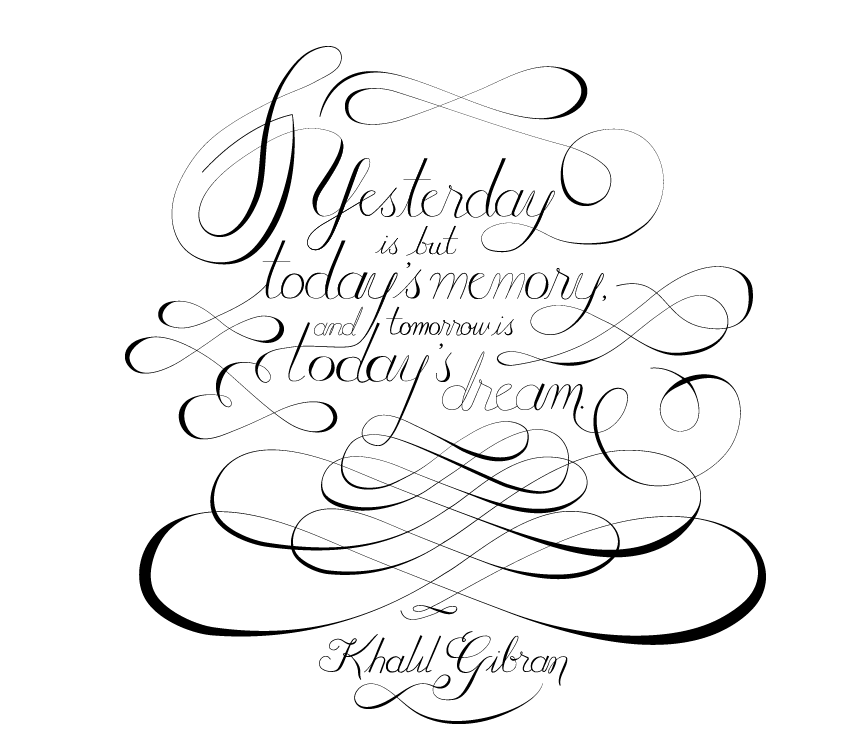 """""""Yesterday is but today's memory, and tomorrow is today's dream."""" - image 3 - student project"""
