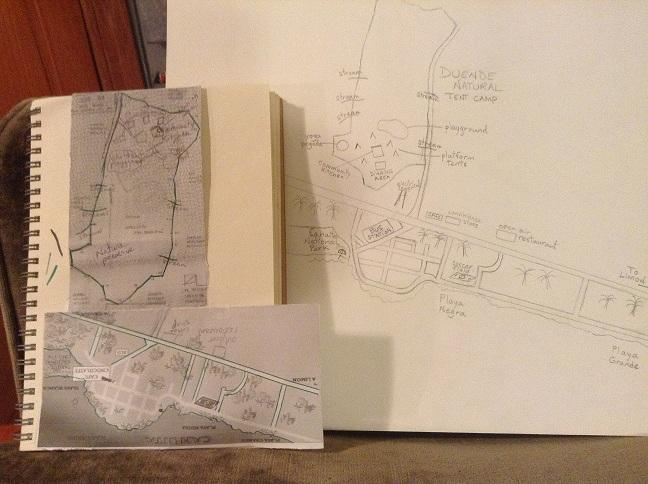 Duende Natural Tent Camp, Site Map & Town of Cahuita, Costa Rica - image 1 - student project