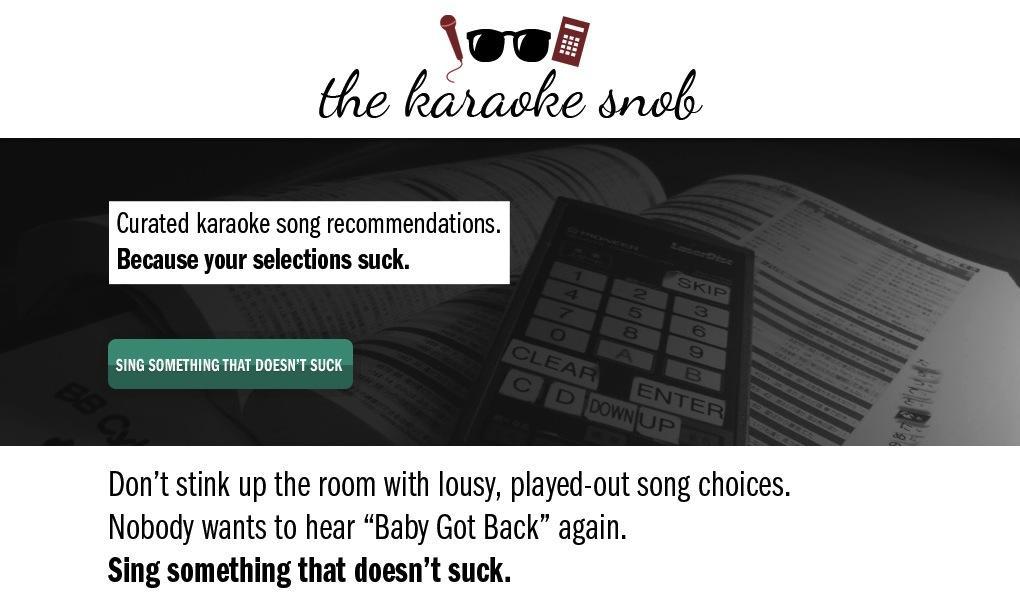 The Karaoke Snob - image 2 - student project