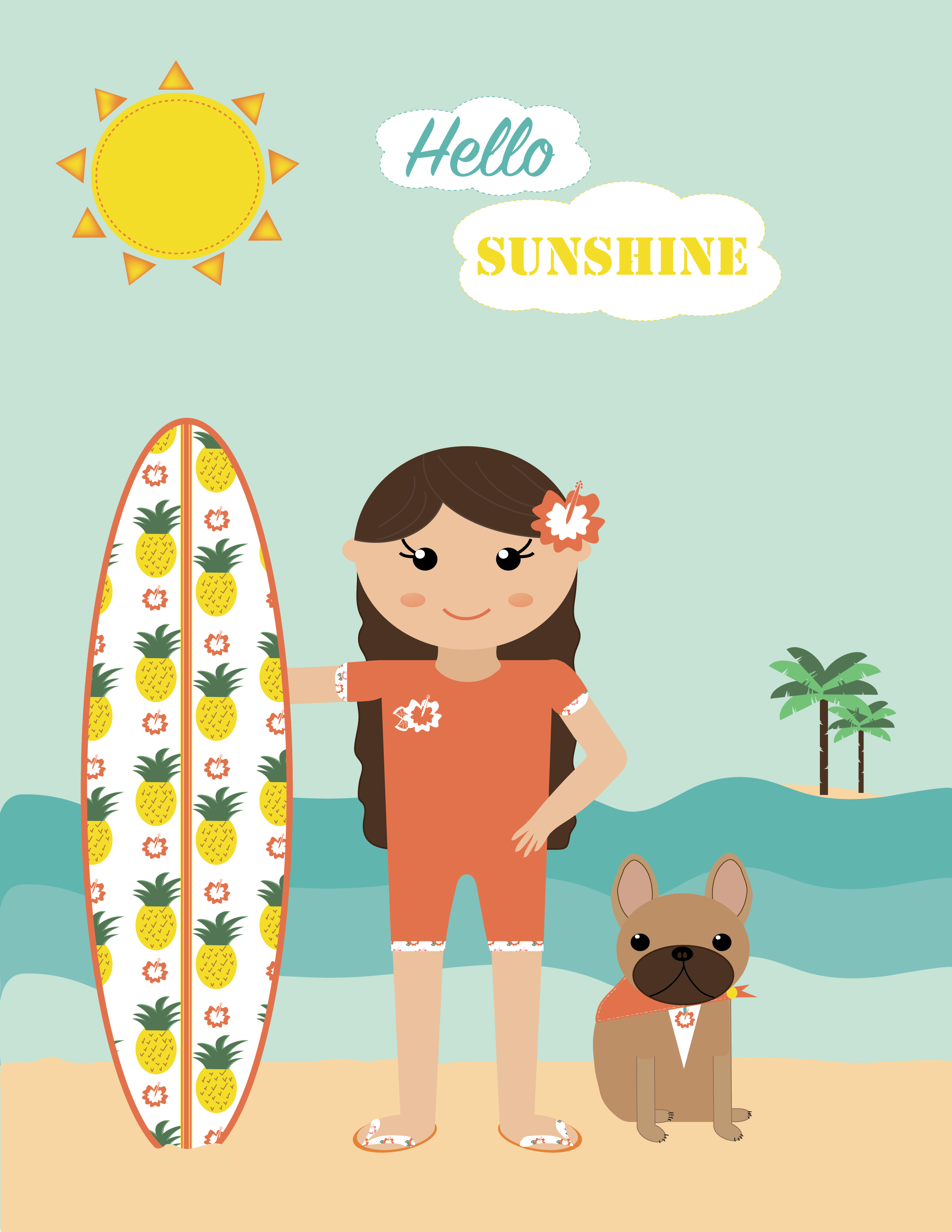 Hello Sunshine - A summer print - image 2 - student project