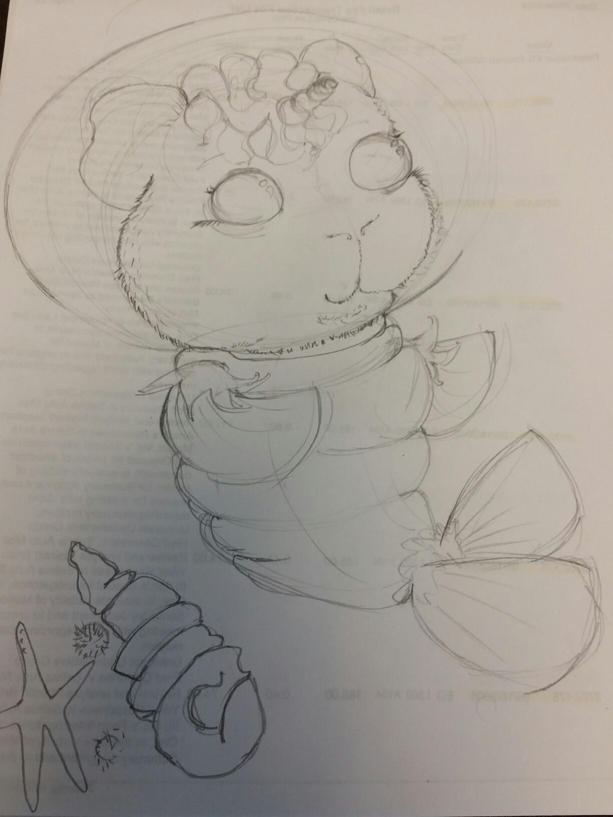 Guinipig with unicorn horn in shrimp space suit - image 4 - student project