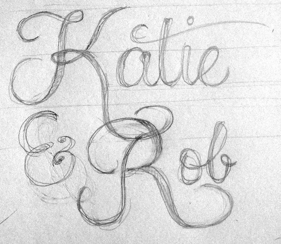 Lettering for my Wedding Stationary - image 1 - student project