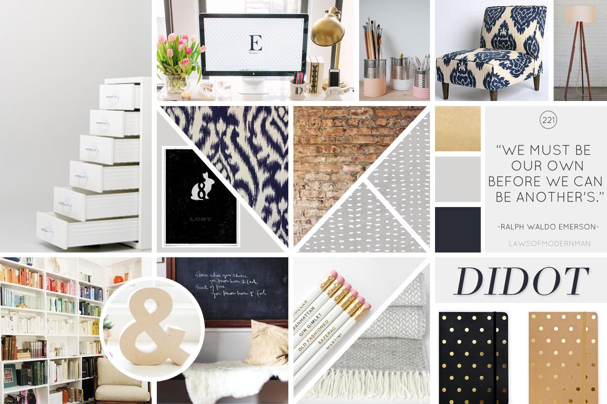Home Office Mood Board - image 1 - student project
